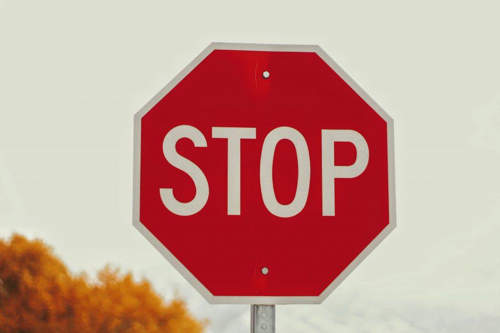 Panneau signalisation stop
